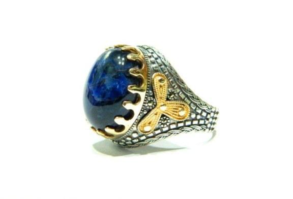 خاتم ملكي بفص حجر سودالايت طبيعي|افضل واقوى واشهر شيخة روحانية أم يوسف0096171137681